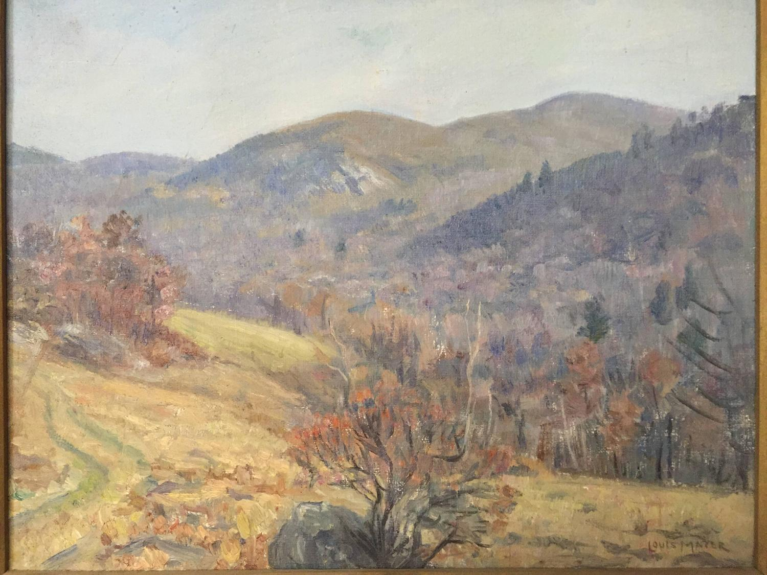Louis Mayer Painting of Fishkill Mountain Hudson Valley, New York For Sale at 1stdibs