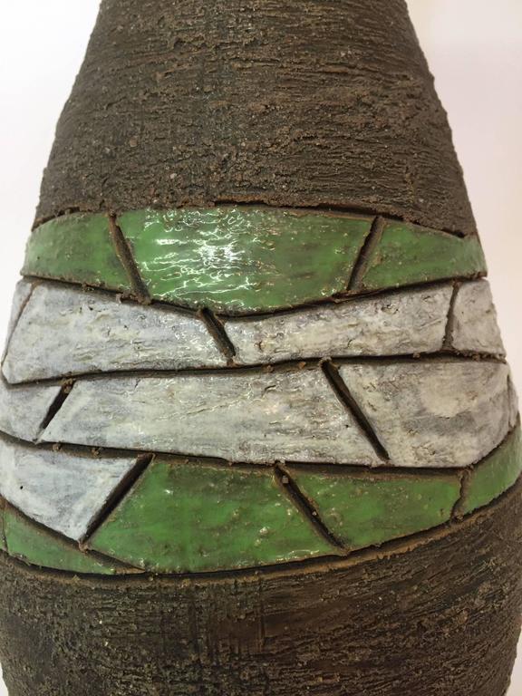 Mid-Century Modern Aldo Londi for Bitossi Raymor Pottery Table Lamp For Sale