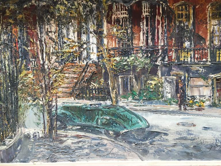 George bossek painting of gramercy park nyc 1950s for for Gramercy park for sale