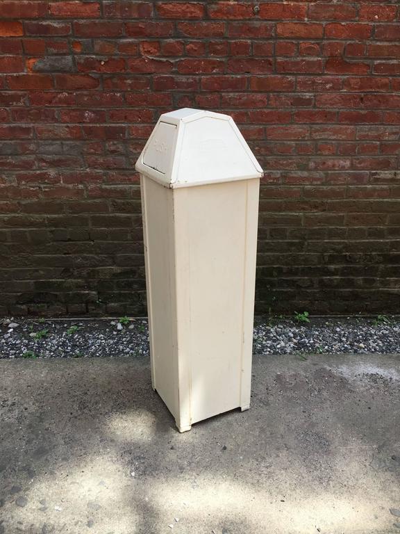 1950s United Metal Box Brooklyn Industrial Trash Bin For