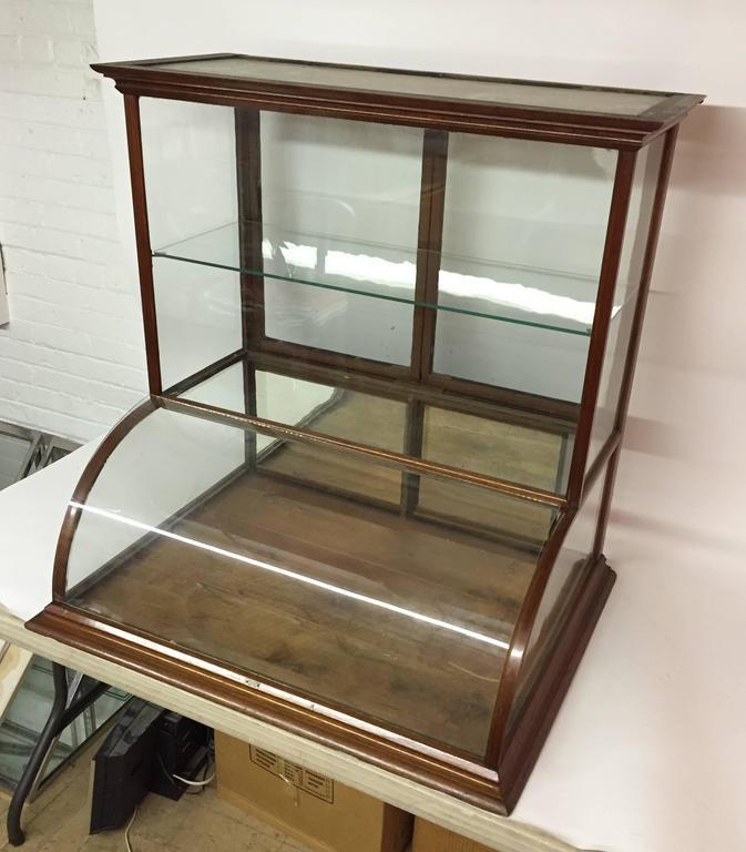 J.H. Terhune New York Walnut And Glass Counter Top Display Cabinet