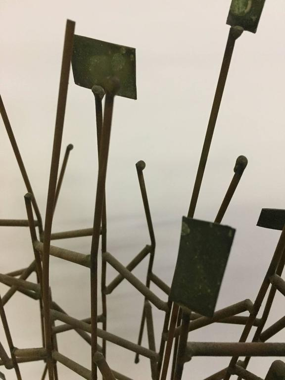 Mid-20th Century 1960s Mixed Metals Abstracted Tree Sculpture in the Manner of Harry Bertoia For Sale