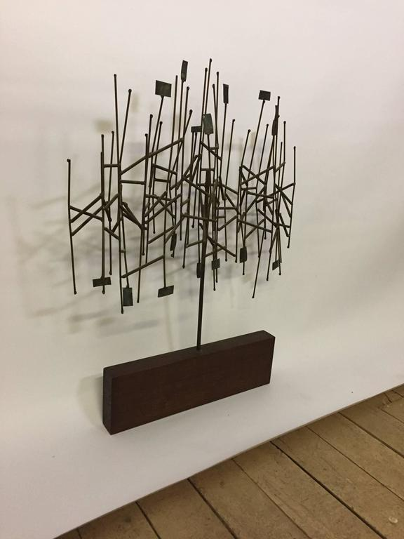 1960s Mixed Metals Abstracted Tree Sculpture in the Manner of Harry Bertoia For Sale 1