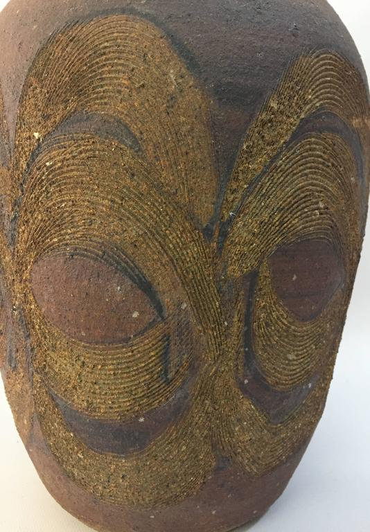 Late 20th Century Beautiful 1970s Studio Pottery Vase For Sale