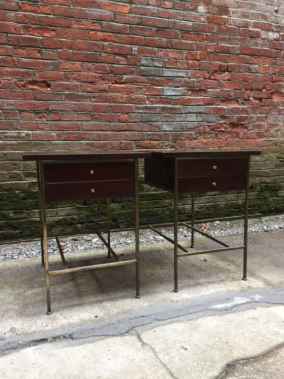 American Modern Pair of Paul McCobb Irwin Collection End Tables For Sale