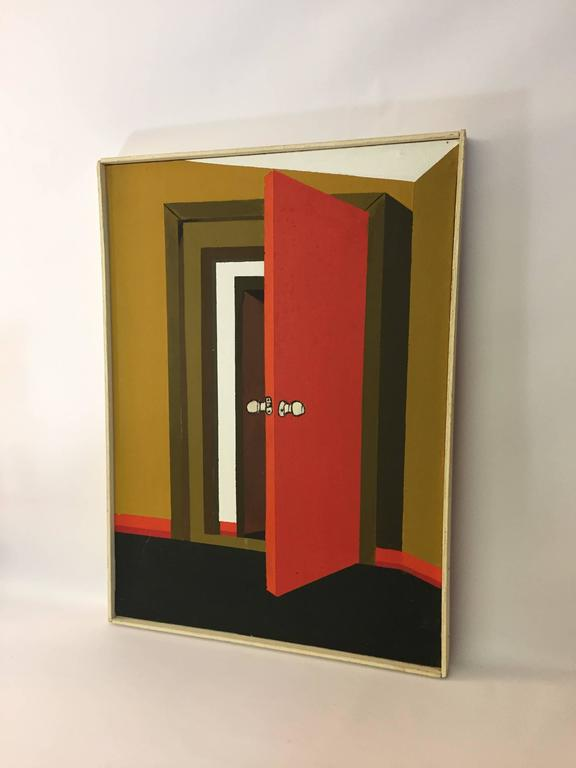 Eric Rosedale 1970s Hard Edge Door Painting For Sale At