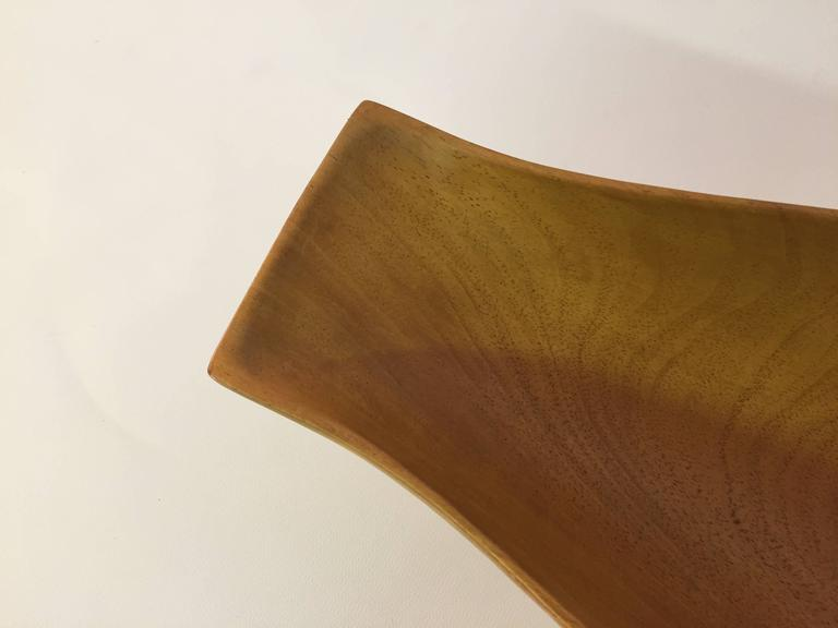 Wool Arthur Umanoff Taverneau Collection Carved Wood Bowl For Sale