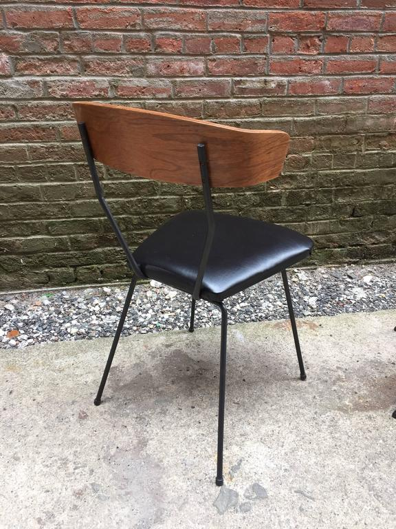 Pair of Iron and Walnut Chairs in the Manner of Clifford Pascoe In Good Condition In Garnerville, NY