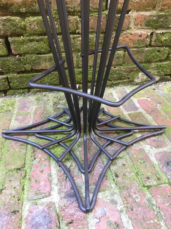 Set of Four Iron Swivel Stools For Sale 1