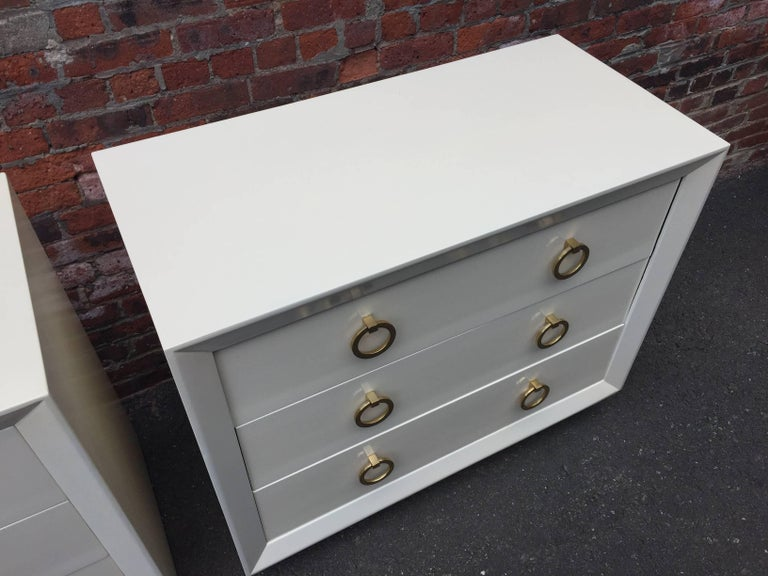 American Pair of T.H Robsjohn-Gibbings Lacquered Dressers for John Stuart For Sale