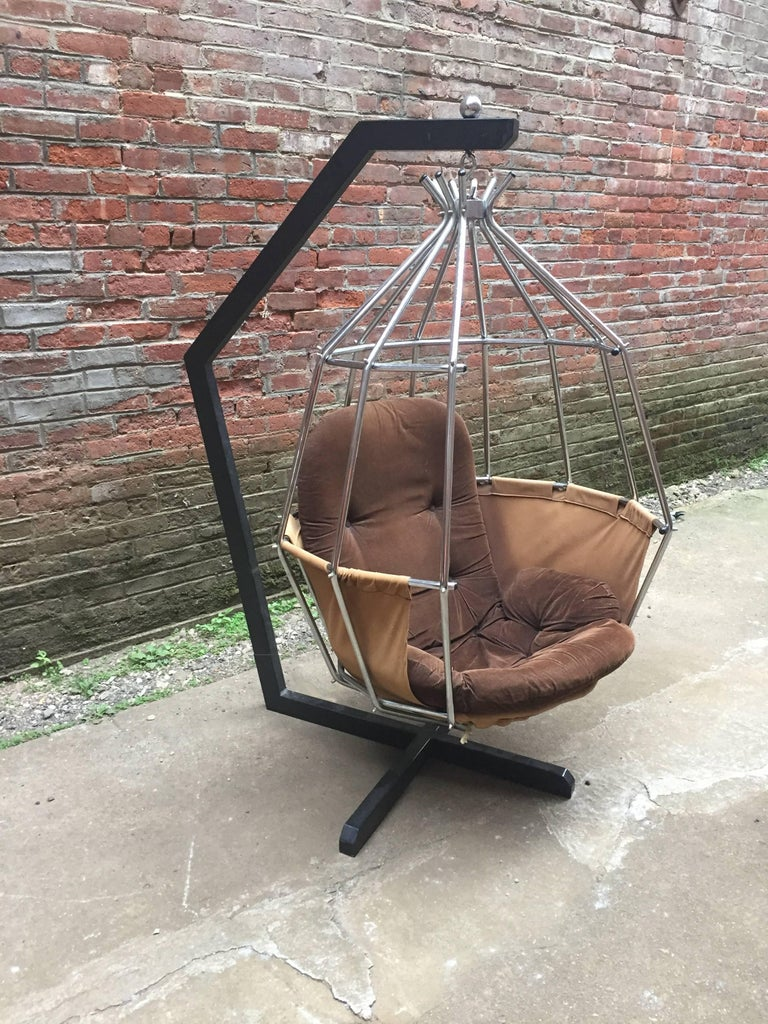 Ib Arberg Parrot Cage Swing Chair For Sale At 1stdibs
