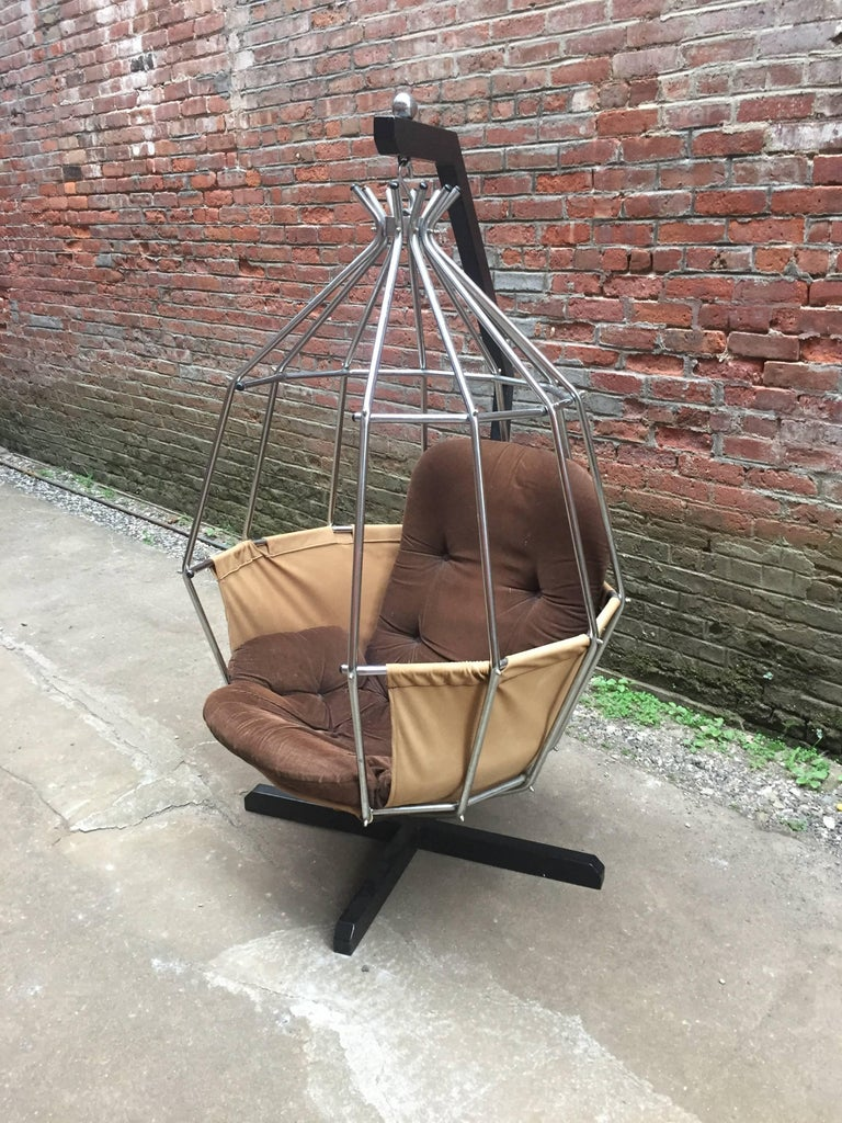 Swedish Ib Arberg Parrot Cage Swing Chair For Sale