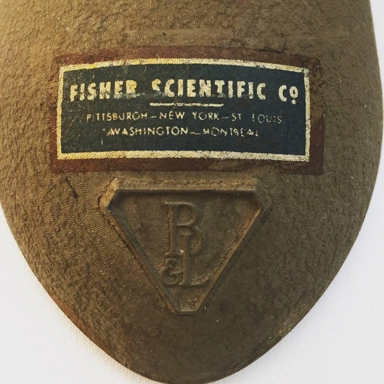 Steel Pair of Machine Age Fisher Scientific Laboratory Lamps For Sale