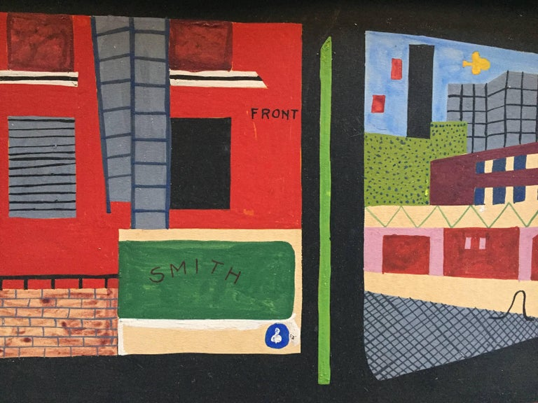 Mid-20th Century American Realist Proto Pop Industrial Painting in the Style of Stuart Davis For Sale