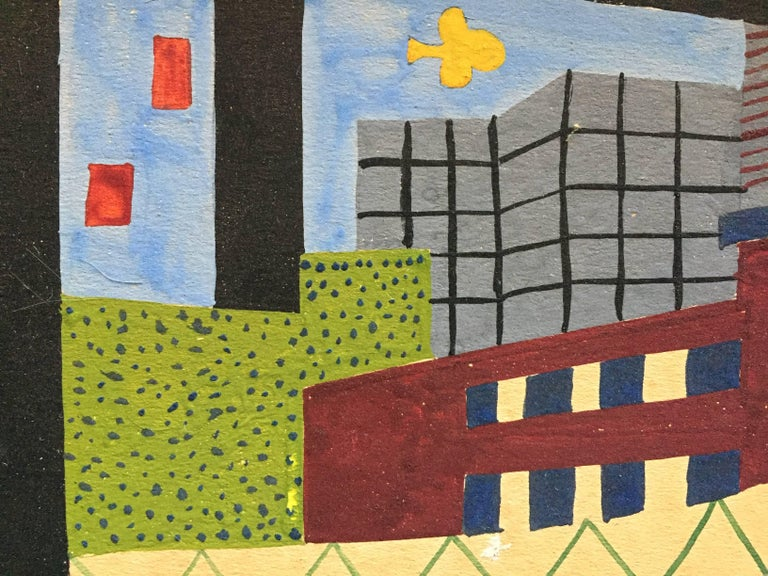 American Realist Proto Pop Industrial Painting in the Style of Stuart Davis For Sale 1