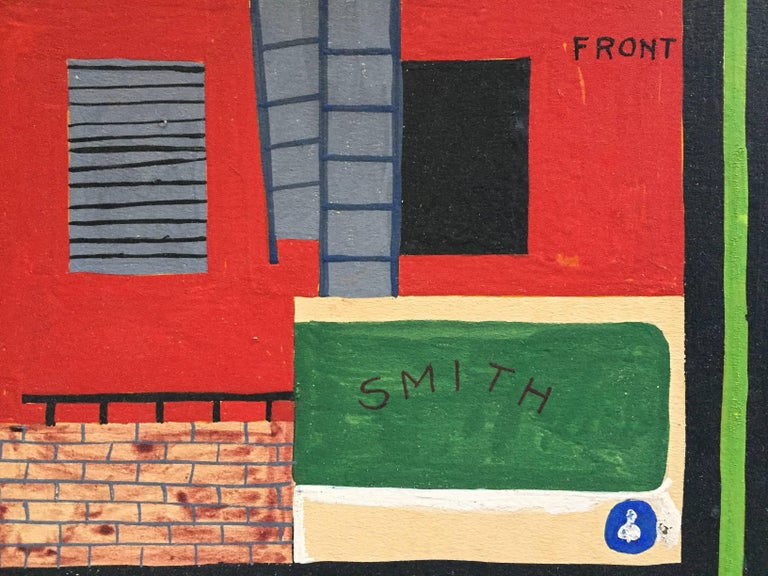 American Realist Proto Pop Industrial Painting in the Style of Stuart Davis For Sale 2