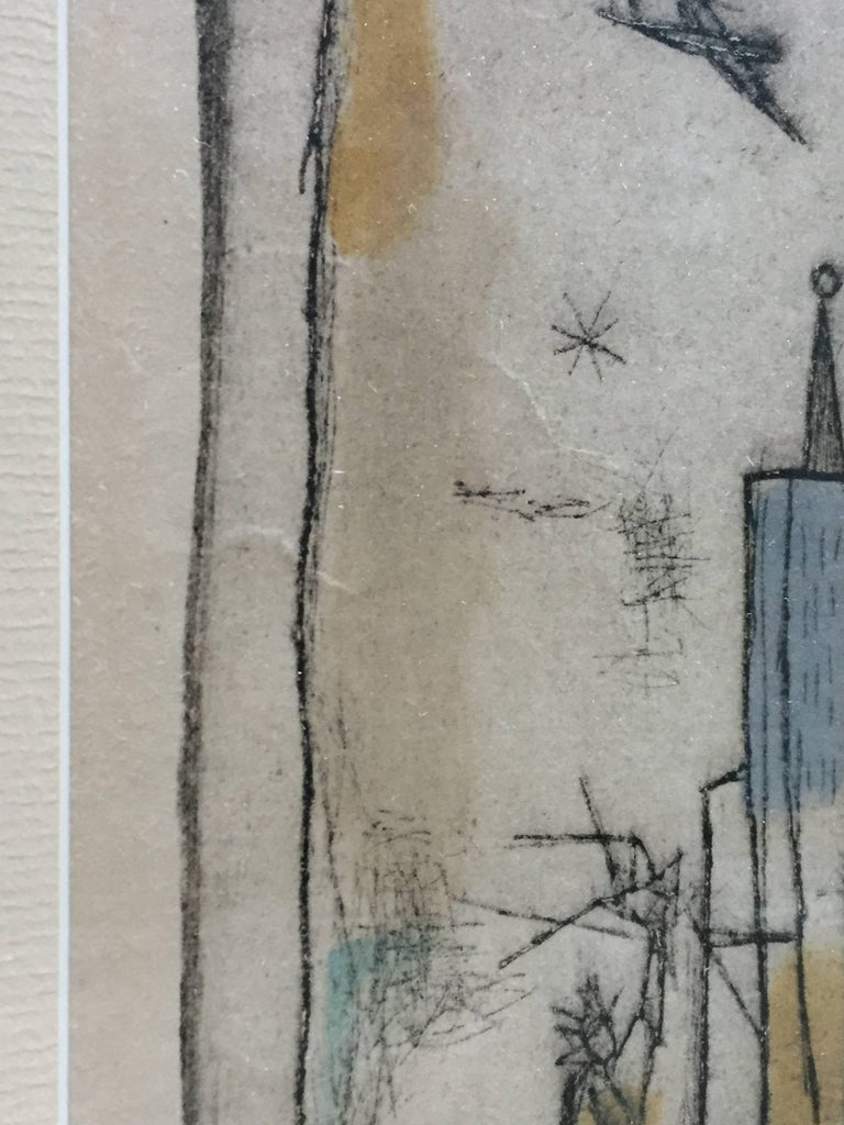 Irving Amen New York Skyline Color Etching For Sale At 1stdibs