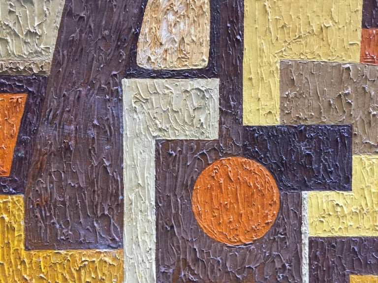American 1950s Abstract Painting RKM For Sale