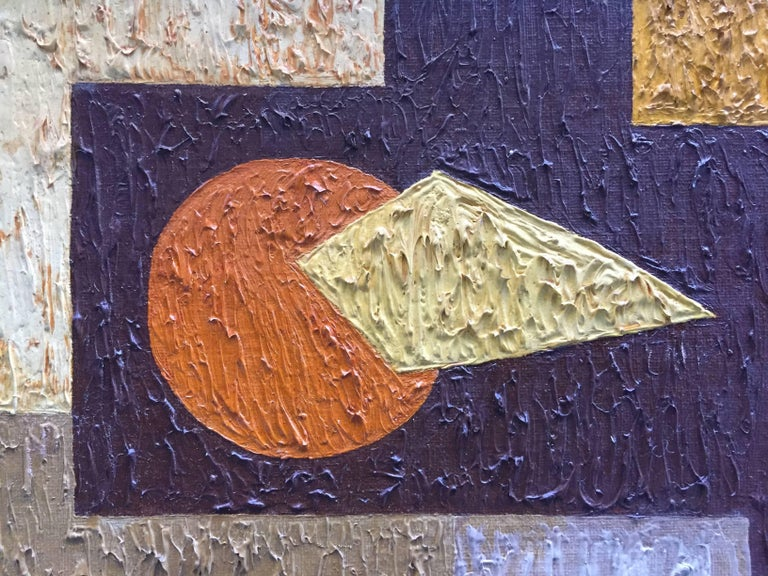 1950s Abstract Painting RKM In Good Condition For Sale In Garnerville, NY