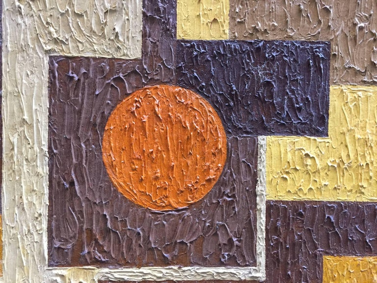 Mid-20th Century 1950s Abstract Painting RKM For Sale