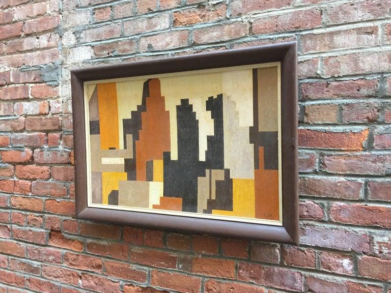 American 1950s Geometric Cityscape RKM For Sale