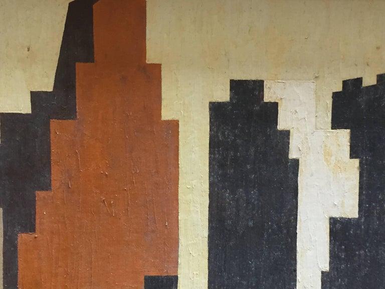 1950s Geometric Cityscape RKM For Sale 1