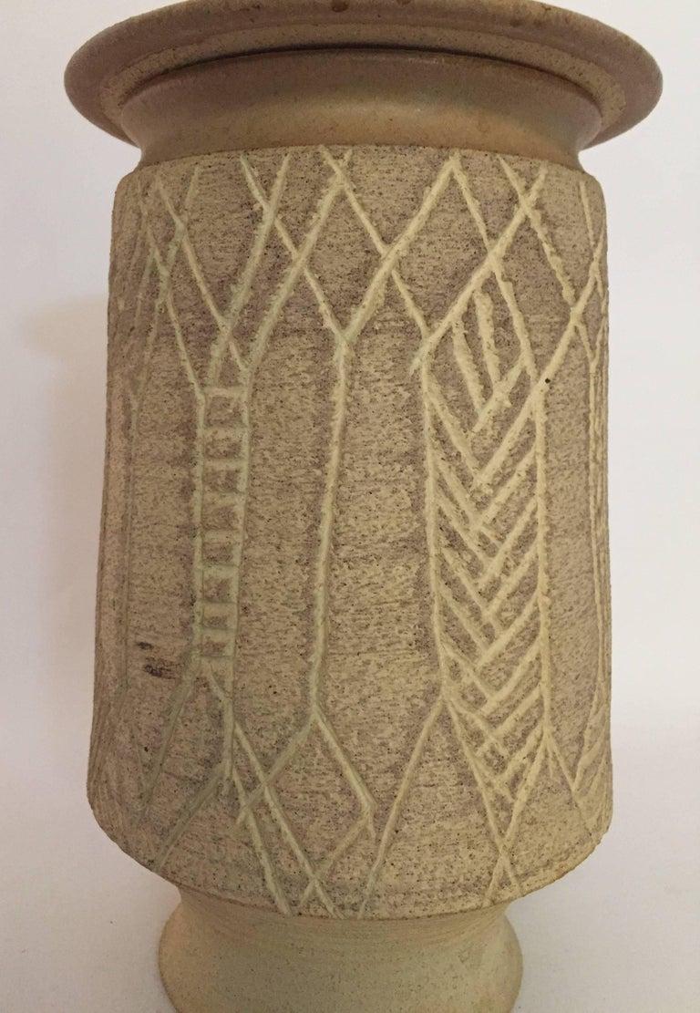 American 1970s John Masson Studio Pottery Wheat Vessel For Sale