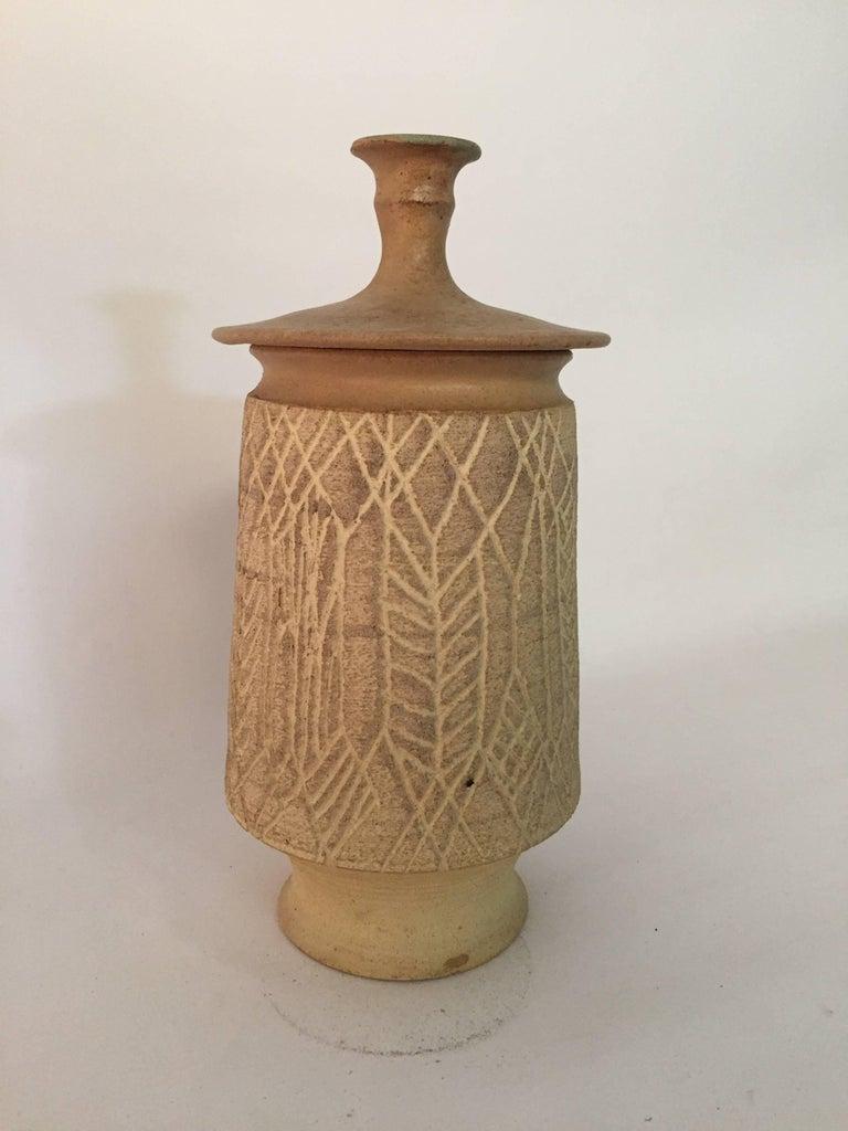 Mid-20th Century 1970s John Masson Studio Pottery Wheat Vessel For Sale