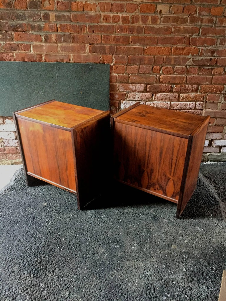 Danish Pair of Rosewood End Tables For Sale