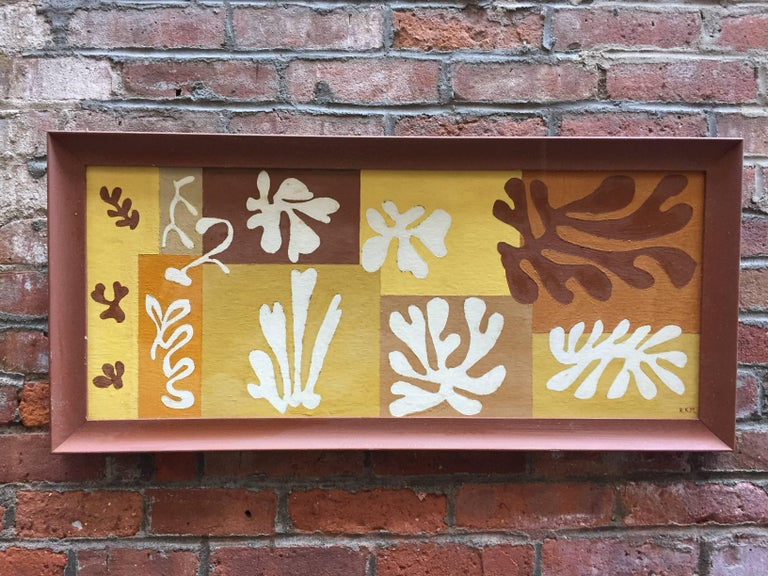1950s Matisse Inspired Leaf Painting For Sale 1