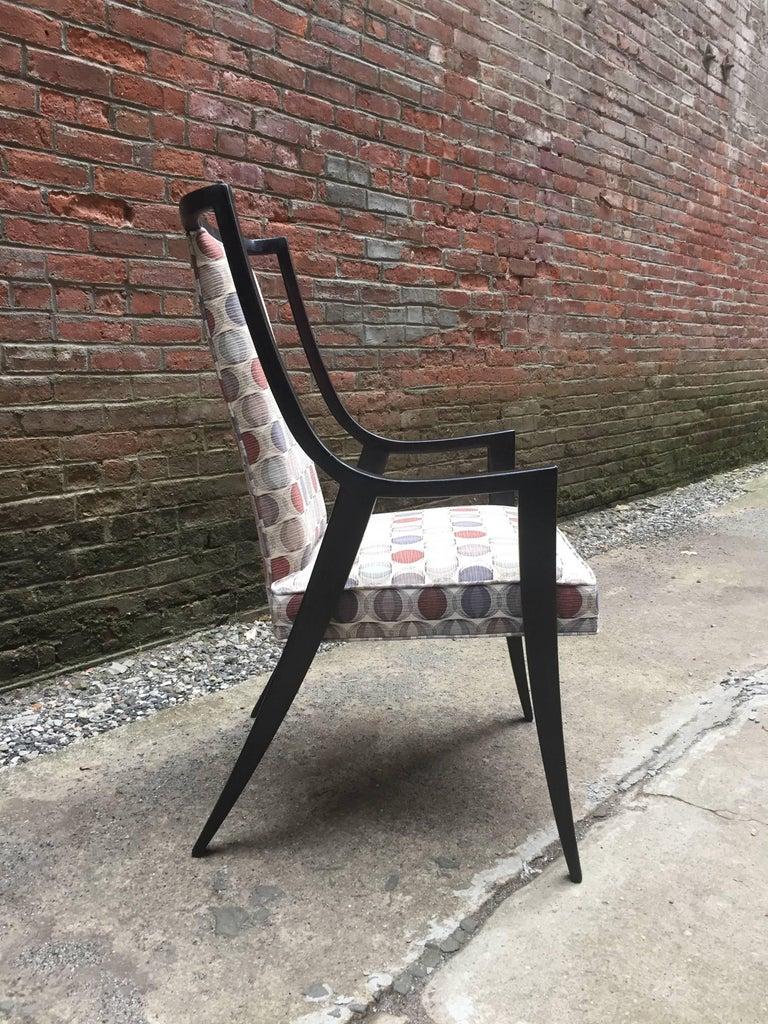 American Harvey Probber Saber Leg Armchair For Sale