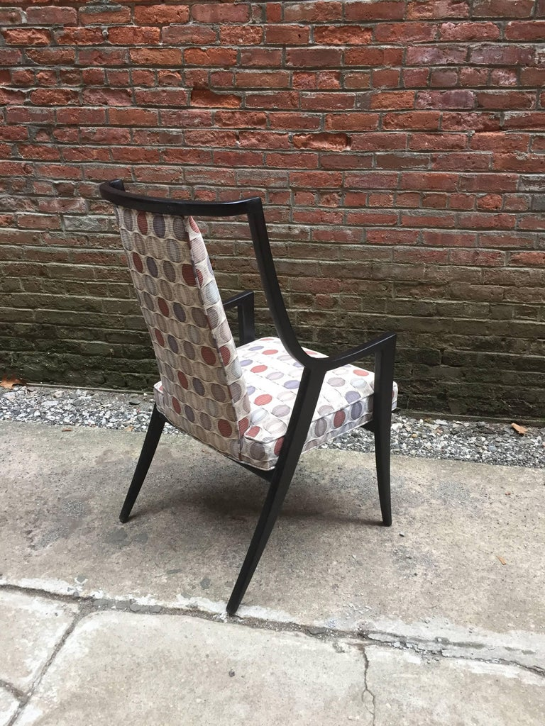 Harvey Probber Saber Leg Armchair In Good Condition For Sale In Garnerville, NY