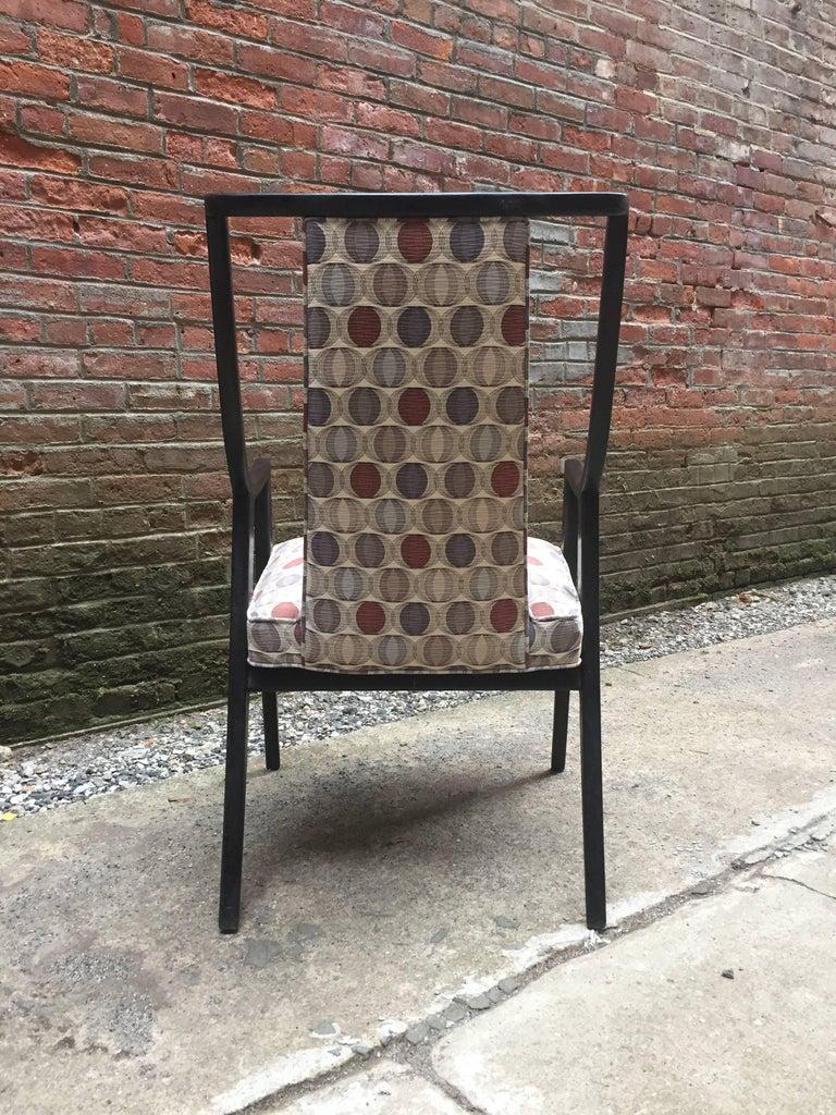 Ebonized Harvey Probber Saber Leg Armchair For Sale
