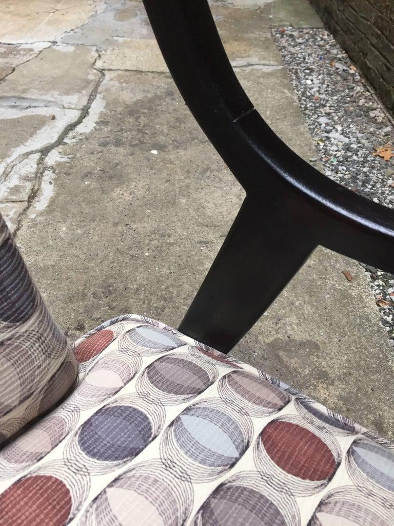 Mahogany Harvey Probber Saber Leg Armchair For Sale