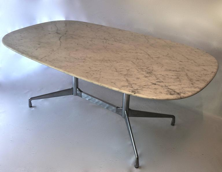 Eames For Herman Miller White Marble Dining Conference Table At Stdibs - White marble conference table