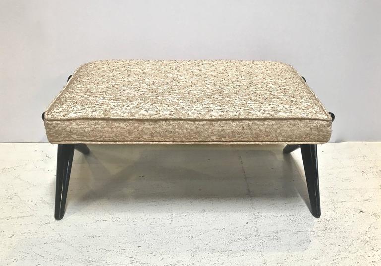 Mid-Century Modern X-Base Trestle Bench, by T.H. Robsjohn-Gibbings for Widdicomb For Sale