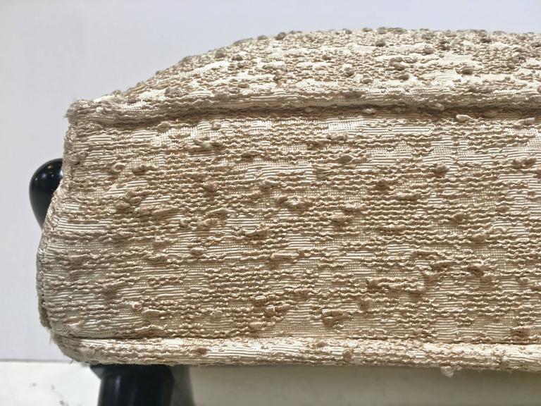 Upholstery X-Base Trestle Bench, by T.H. Robsjohn-Gibbings for Widdicomb For Sale