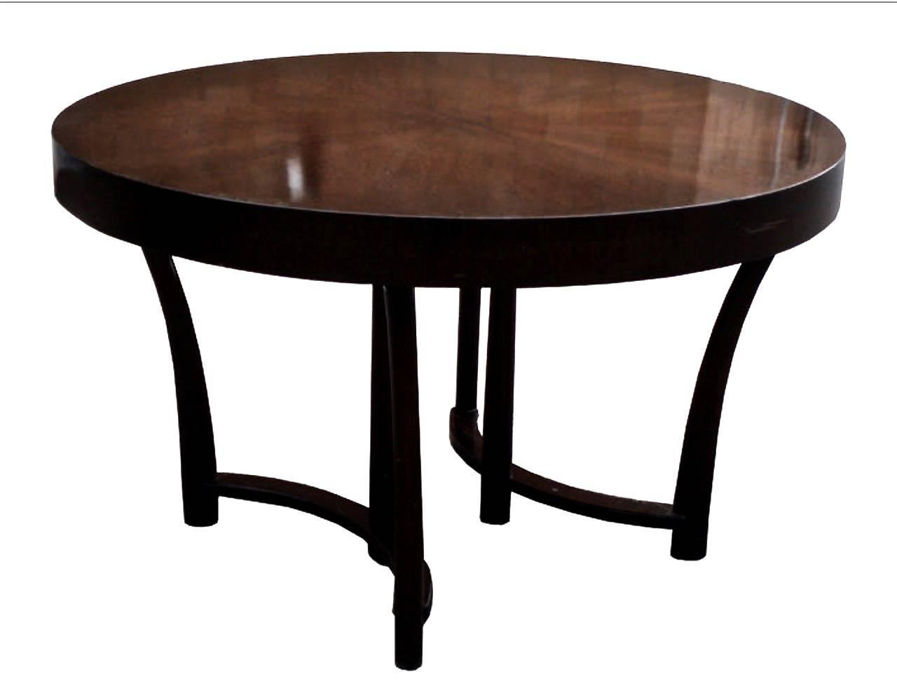 T h robsjohn gibbings walnut dining table with three for 3 leaf dining room tables