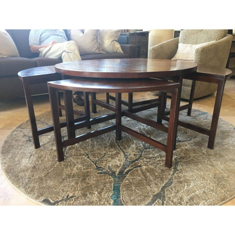 Mid-Century Modern Nesting Bench Seats And Cocktail Table