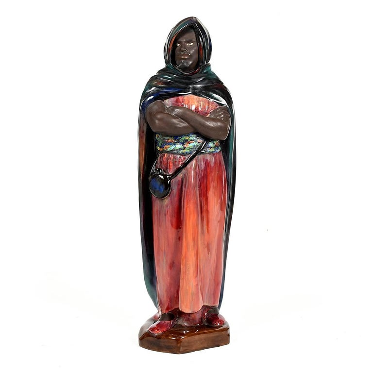 Piece of Flambé Royal Doulton by Charles Noke 'the Moor', circa 1930
