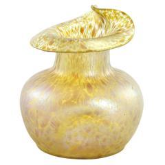 Late 19th Century Art Nouveau Bohemian Glass 'Papillon' Vase by Loetz