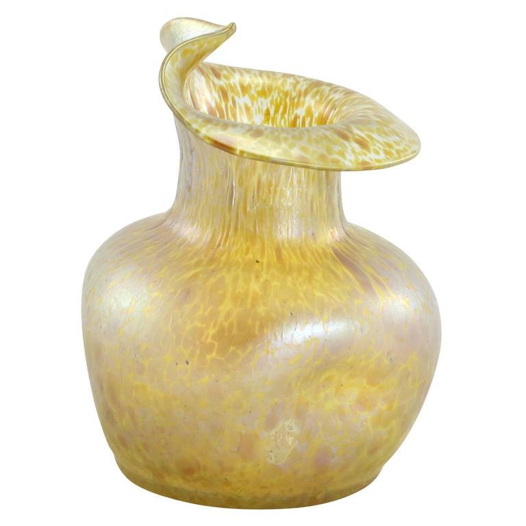 Late 19th Century Art Nouveau Bohemian Glass Papillon Vase By