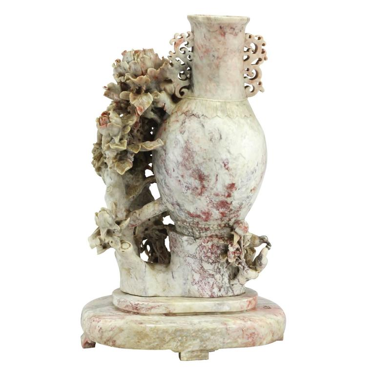 Early 20th Century Carved Chinese Soapstone Vase For Sale At 1stdibs