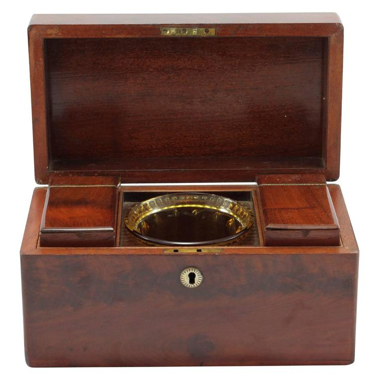 British Early 19th Century Regency Rosewood Tea Caddy For Sale