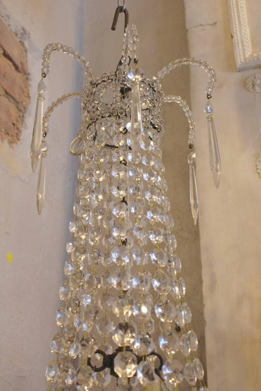Early 20th century Empire style French crystal chandelier.