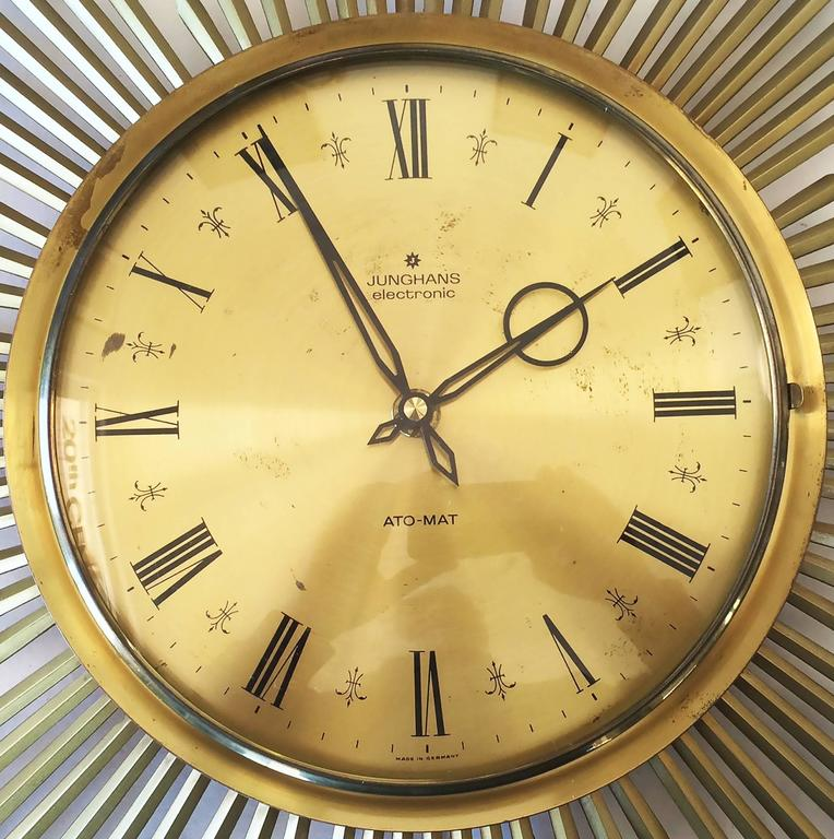 midcentury german junghans sunburst clock 3