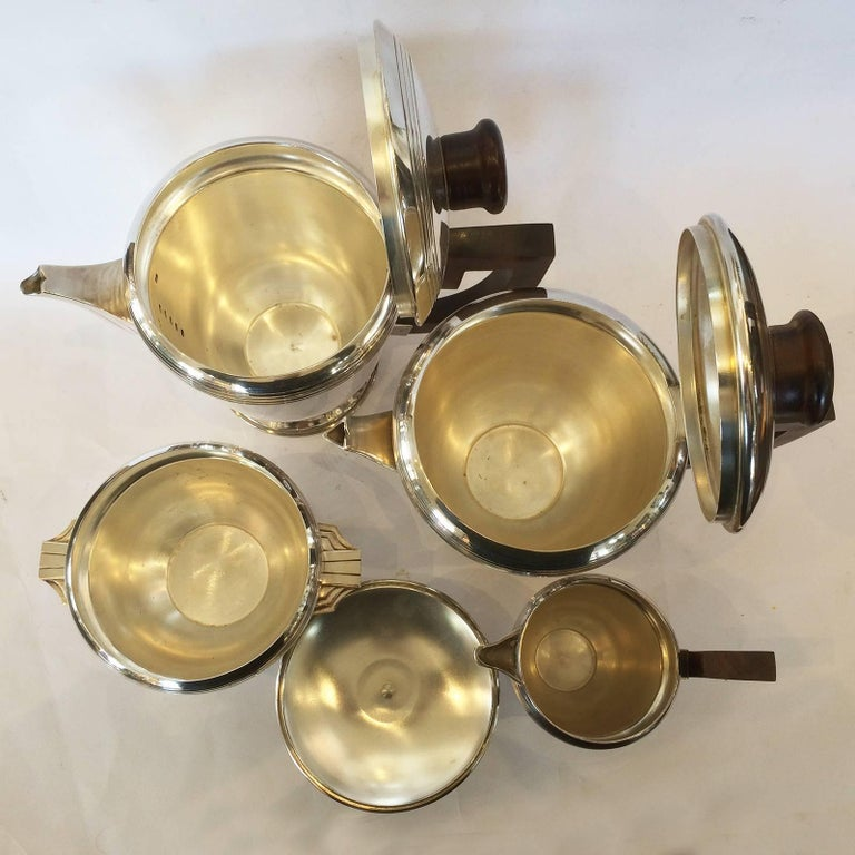 Art Deco French Silver Plate Coffee and Tea Service For Sale 1