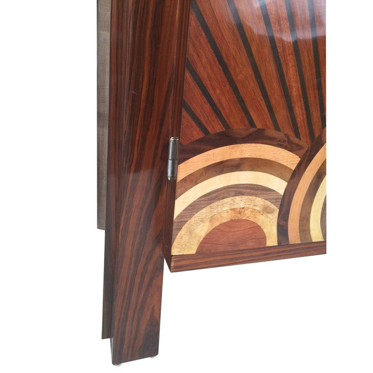 German Art Deco Style Cocktail Cabinet Dry Bar  For Sale