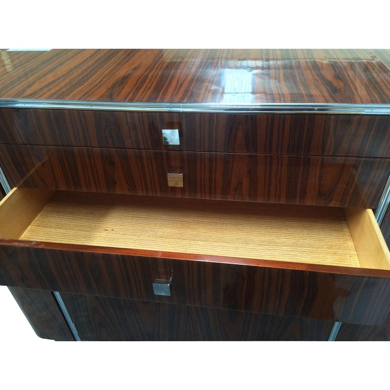 Art Deco Design Double Ended Cocktail Bar Cabinet In Good Condition For Sale In Daylesford, Victoria