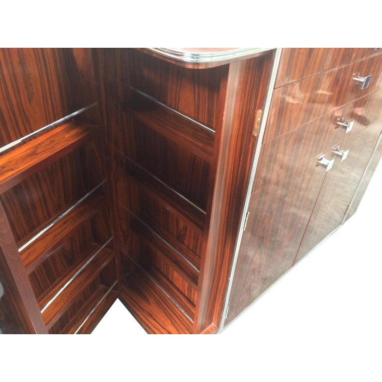 Art Deco Design Double Ended Cocktail Bar Cabinet For Sale 1